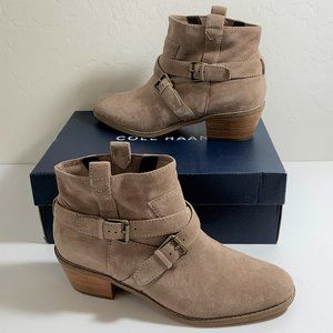 Cole Haan Jensynn Booties Suede Ankle Boots Size 9